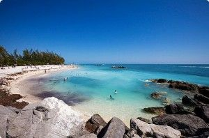 Fort Zachary Taylor in Key West, Florida.  One of the few beaches in the Keys, with fabulous views and great swimming!