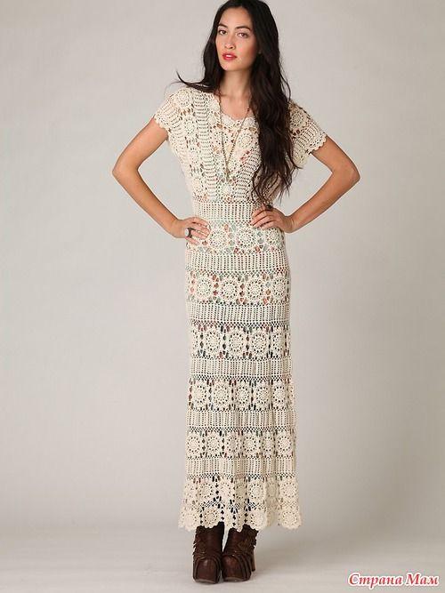 Вязаное крючком платье Free People: Hand Crochet, Crochet Fashion, Crochet Dresses, Crochet Clothes, Crochet Patterns, Crochet Maxi