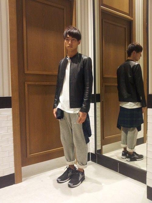 RAGEBLUEイオンモール羽生店   廣瀬智之さんのライダースジャケット「RAGEBLUE ラムレザーライダースジャケット/553112」を使ったコーディネート