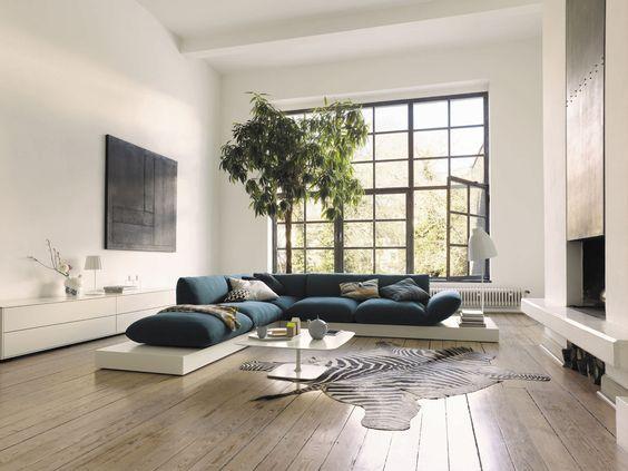 Sofas und Couches Jalis Sofa Eckgruppe auf Lack Podest Cor-Möbel - wohnzimmer couch leder