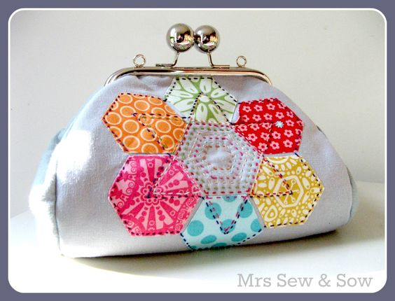 Mrs Sew and Sow - sweet little purse she made