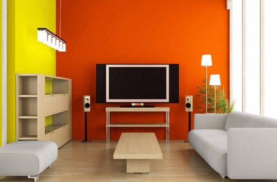 Giallo e arancio, abbinamento solare - Abbinamento forte e vitaminico per le pareti gialle e arencio