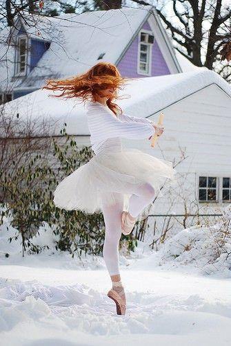 ballet dancing in the snow!