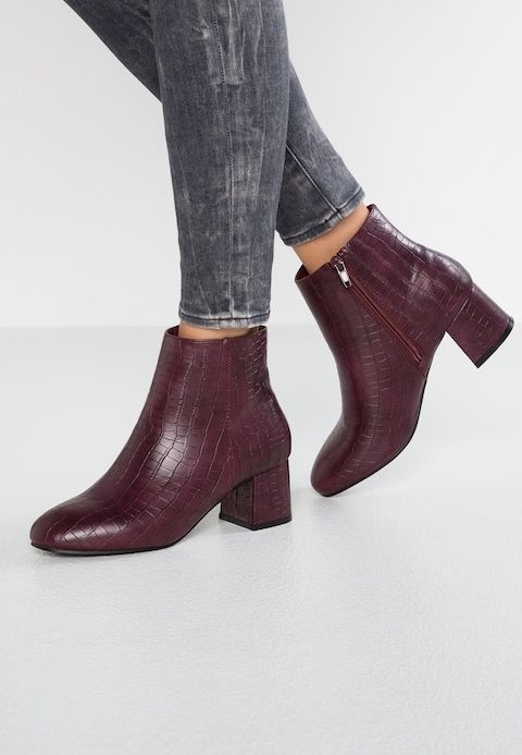 New Look Wide Fit Wide Fit Ali Botki Dark Red Zalando Pl Dark Red Boots Ankle Boot