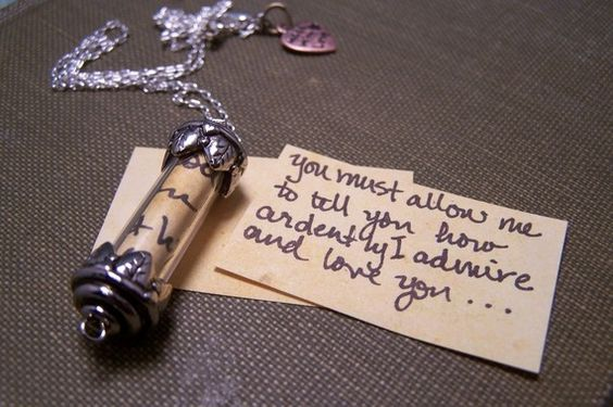 Secret Message Necklace by EmilinaBallerina on Etsy, $15.00