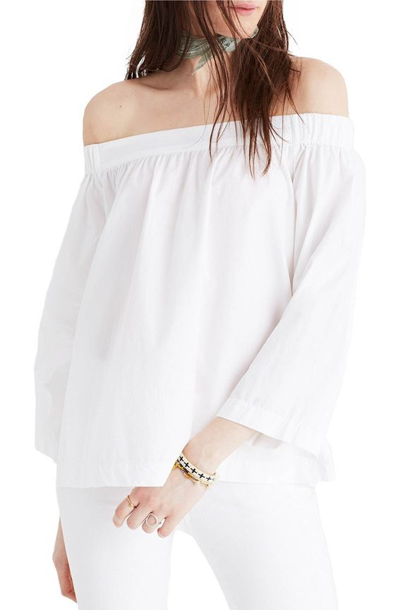 Main Image - Madewell Off the Shoulder Blouse