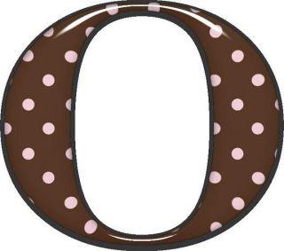 Alfabeto marrom com bolinhas rosas | Visite o novo blog: http://coisasdepro.blogspot.com.br/