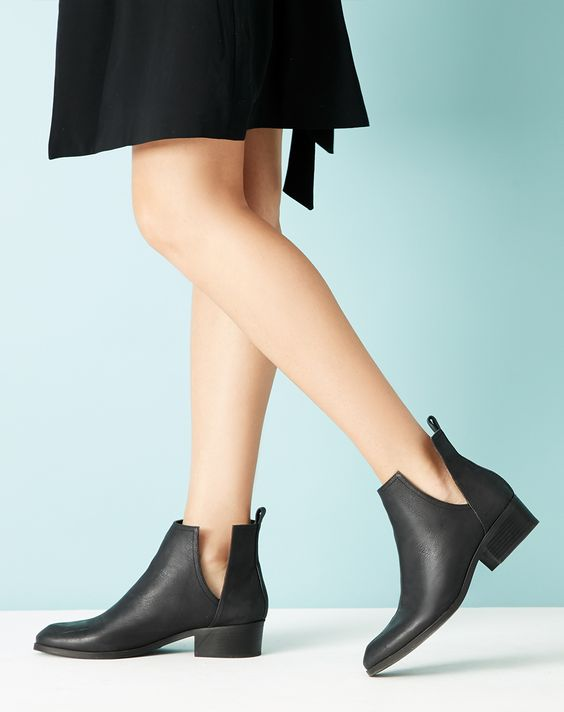 leather booties bootie and leather on