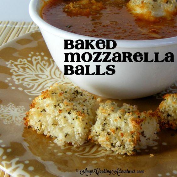 Amy's Cooking Adventures: Baked Mozzarella Balls