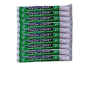 Pack of 10 Light Stick Green 12-Hour for Emergency Disaster Preparedness use for low ambient lighting