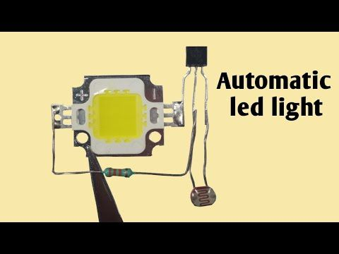 Automatic Street Light With Led Simple Automatic Led Light