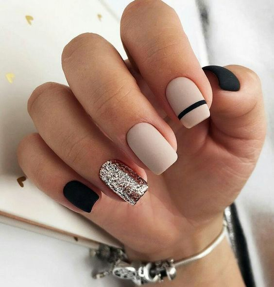 Nails Design Nails Art Solid Color Nails Rose Gold Nails Gold Nails