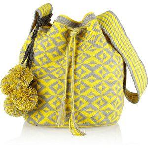 Nataly woven cotton bucket bag