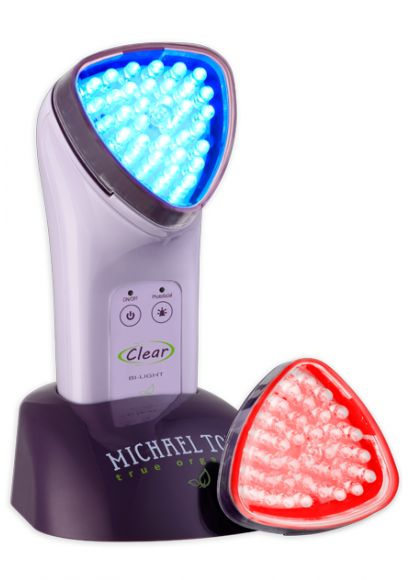 The soniclear clear bi-light from michael todd. Said to clear and heal acne prone skin.
