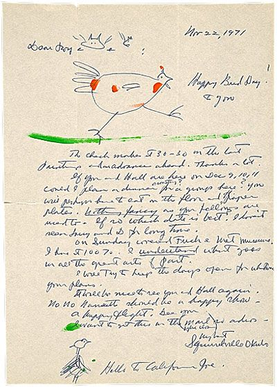 Miné Okubo letter to Roy Leeper, 1971 Nov. 22. Roy Leeper and Gaylord Hall collection of Miné Okubo papers, [ca. 1950]-1998. Archives of Ame...