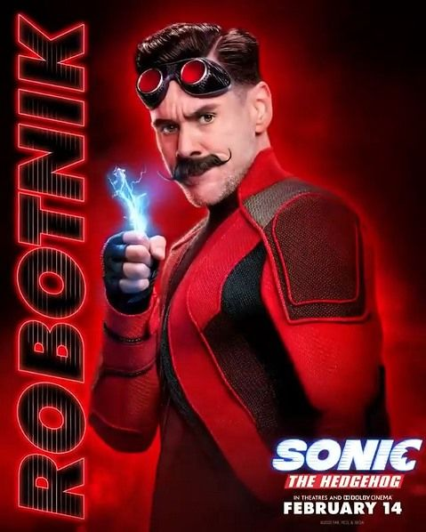 Dr Robotnik Character Poster In 2020 Sonic The Hedgehog Sonic The Movie Hedgehog Movie