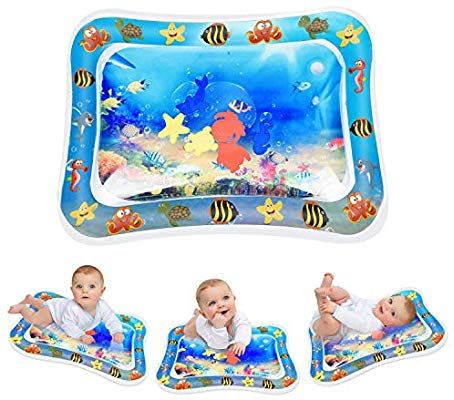 Amazon Com Keten Inflatable Tummy Time Baby Water Mat Leakproof Water Filled Infant Toy For 3 6 9 Months Newborn Boy Girl Baby Toys Tummy Time Best Baby Toys