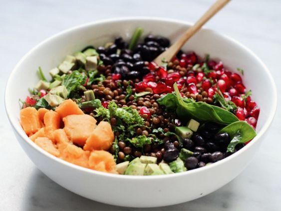 Rezept: Veganen Bohnensalat zubereiten / recipe: vegan bean salad via DaWanda.com