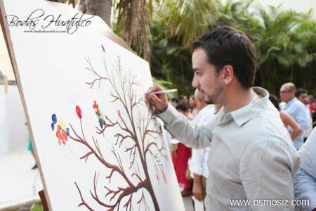 Árbol de los buenos deseos ideal para tu boda en playa por Bodas Huatulco