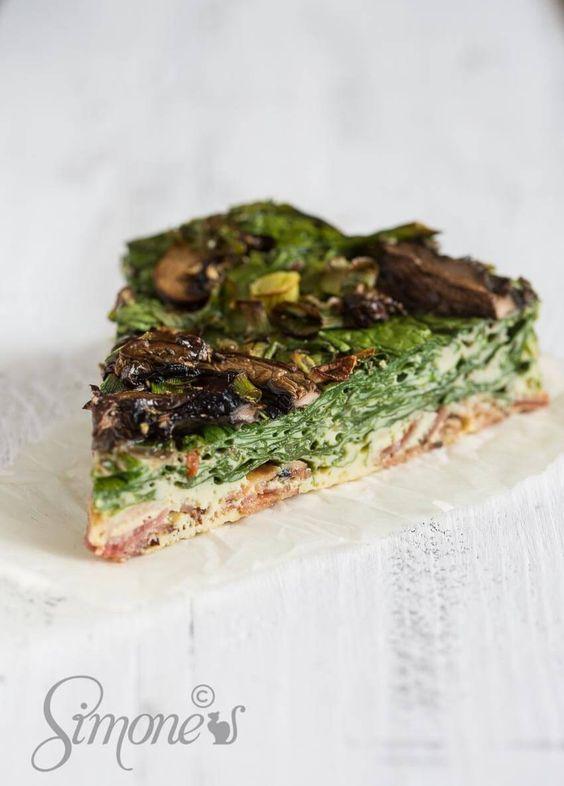 Ontbijt quiche met spinazie simoneskitchen.nl