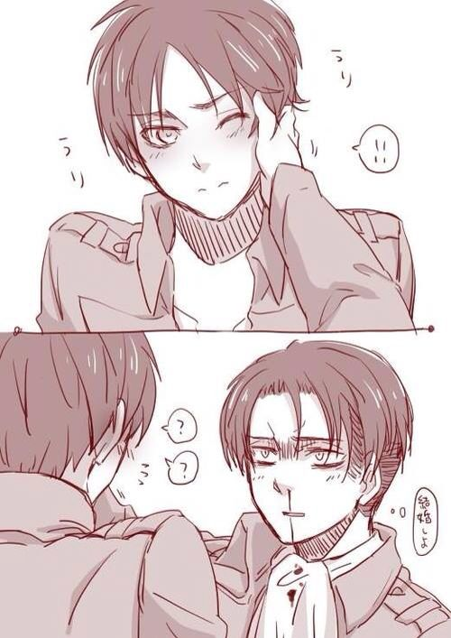 Calm down Levi you have a nosebleed :v Attack on Titan: