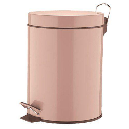Abfalleimer - VERONA - 5 Liter - umbra - Treteimer - Badeimer - Mülleimer - Eimer - Kosmetikeimer - Tretmülleimer