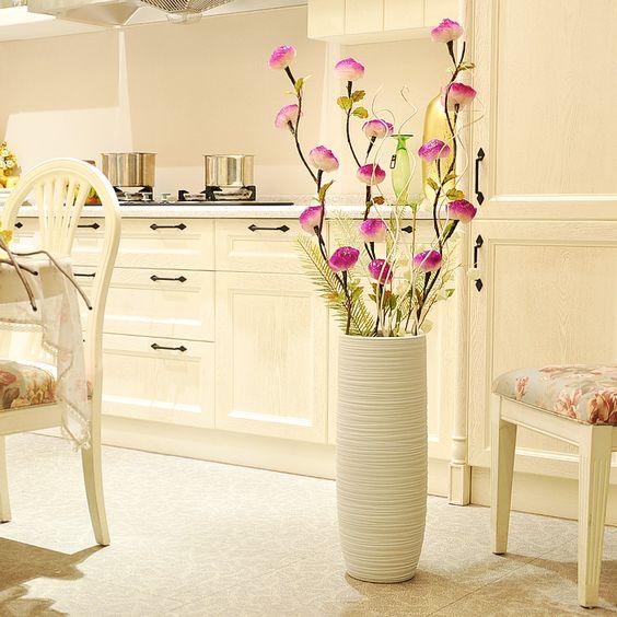 Buy ceramic fashion modern brief large floor vase Large floor vases cheap