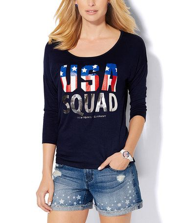 Loving this Grand Sapphire 'USA' Squad Graphic Tee on #zulily! #zulilyfinds