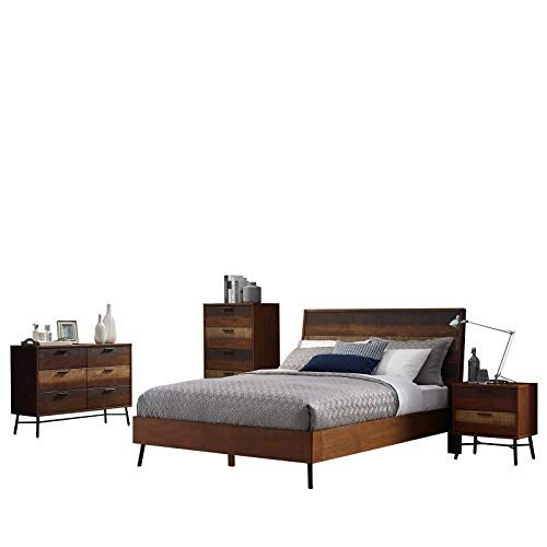 Country Farm Bedroom Queen Bed Frame Night Stand Mirror Dresser