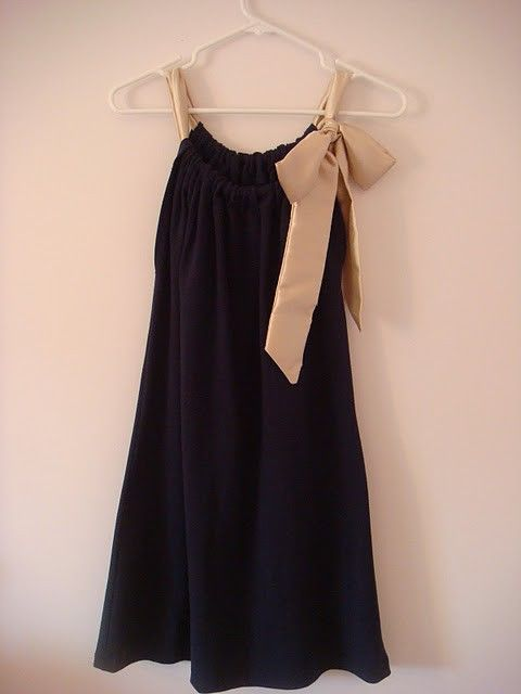 Make the front a little longer and add a matching sash, and you've got an adorable maternity dress!