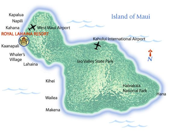 Royal Lahaina Resort Maui Travel Island Map and Virtual Tours – Virtual Travel Map