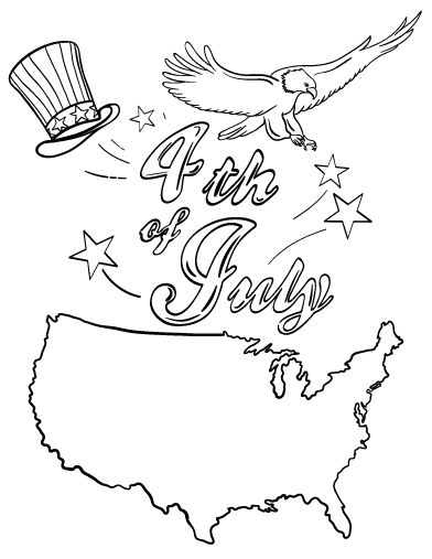 4th Of July Coloring Pages Pdf : Printable th of july coloring page free pdf download at