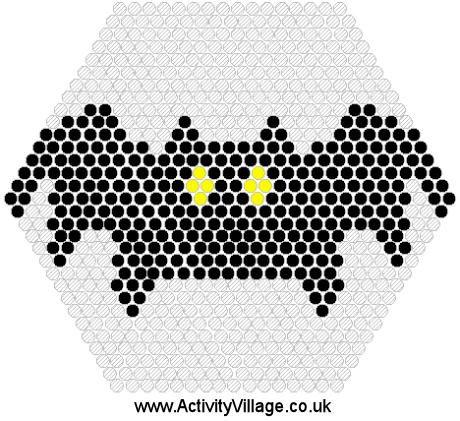 Halloween bat hama perler beads pattern