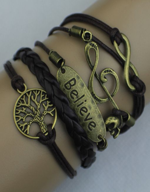 Infinity, Music Note, Believe, Tree of Life ModWrap Bracelet - Coupon: PINTERESTFREE gives you 3 FREE ModWraps ($45.00 value) when you cover shipping. Over 60 designs. www.gomodestly.com/modwraps #free #freebie #jewelry #bracelet #wrapbracelet