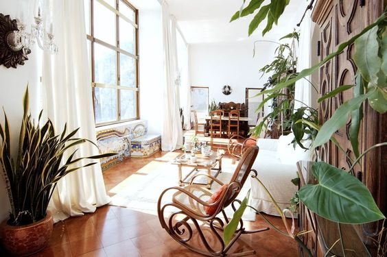 "beautiful house on Capri-love the bentwood rocker/from Sotheby's ""European House of hte Year"" image:"