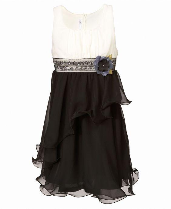Bonnie Jean Kids Dress Girls Black Ruffle Dress - Kids Dresses ...