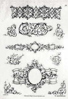 alte rokoko barock ornamente printables stencils und layouts pinterest suche. Black Bedroom Furniture Sets. Home Design Ideas