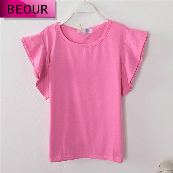 Beour  women t shirt 2014 women hot sale short sleeved casual loose T-shirt $34.72