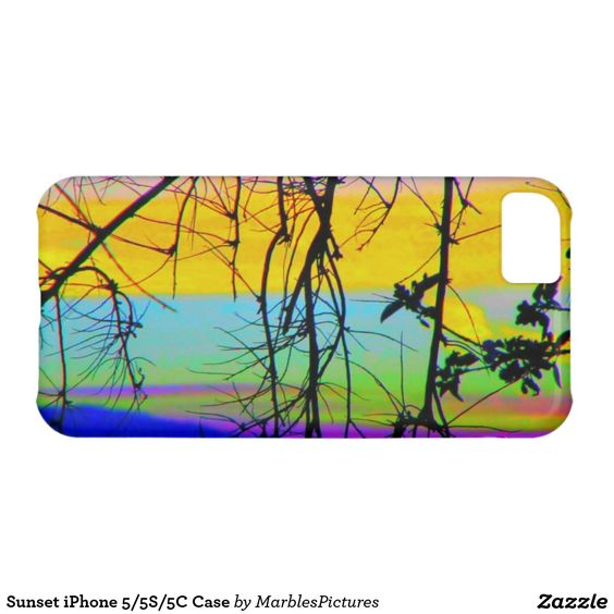 Sunset iPhone 5/5S/5C Case #sunset #sunrise #tree #branches #iPhone #case