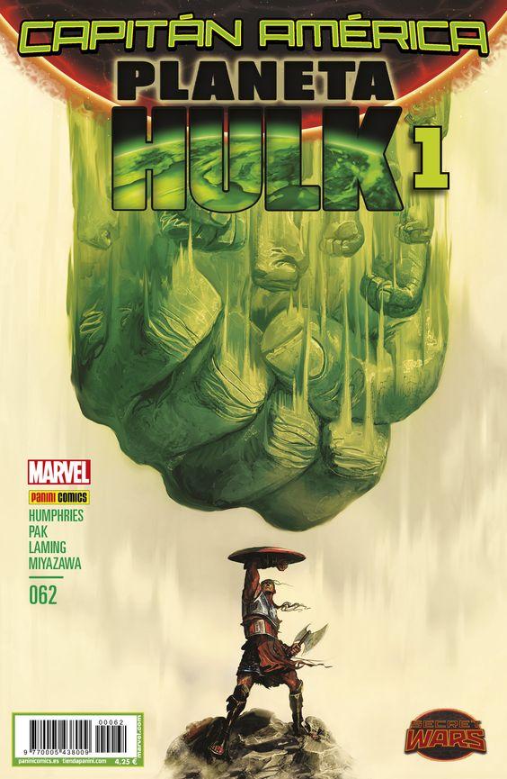 Capitán América v8, 62 Planeta Hulk 1 - Secret Wars A la venta el viernes, 22 de enero. http://www.paninicomics.es/web/guest/titulo_detail?viewItem=796261