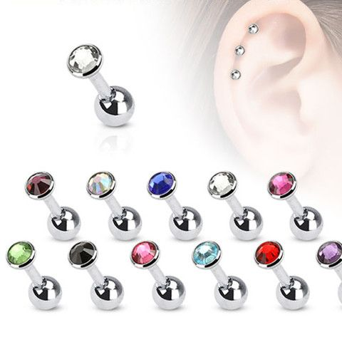 SWAROVSKI ATTRACT PIERCED EARRINGS PEARL -