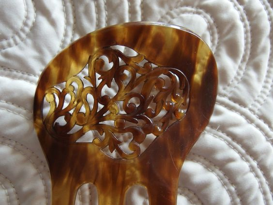 vintage faux tortoise shell celluloid hair comb slide from around the 1930s   eBay