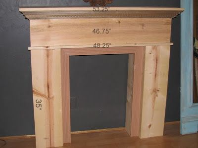blue roof cabin: DIY faux fireplace and MANTEL