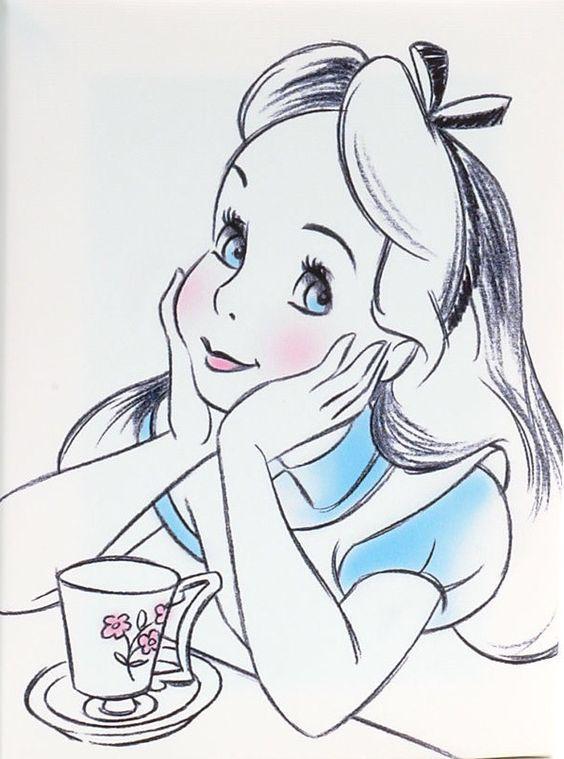Alice In Wonderland Disney Zeichnen Alice Im Wunderland Und