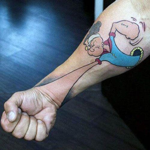 63 Best 3d Tattoos For Men Cool Designs Ideas 2020 Guide 3d Tattoos For Men 3d Tattoos Popeye Tattoo