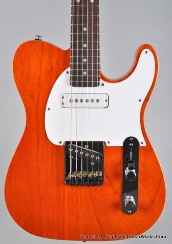 G USA ASAT Classic Custom Clear Orange with Heritage C Neck