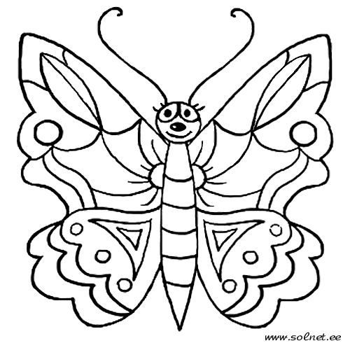 Gambar Mewarna Rama Rama Mewarnai R Coloring Pages Butterfly Images Butterfly
