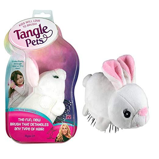 Tangle Pets Boppity The Bunny The Detangling Brush In A Plush