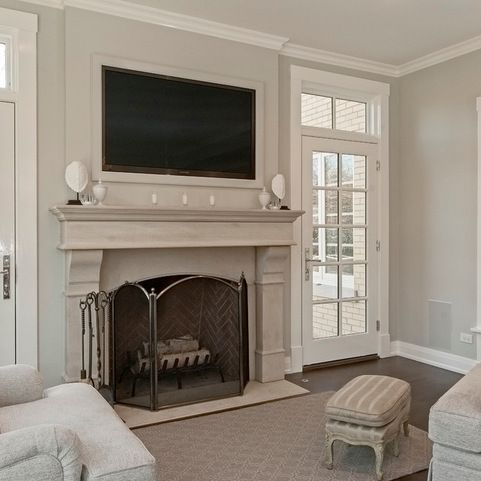 Single french door french doors and fireplaces on pinterest for 2 living rooms side by side
