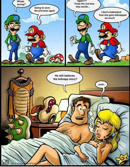 Sneaky Princess!: Poor Mario, Funny Shit, Funny Pictures, Funny Stuff, Videogame, Princess Peach, Video Games, Mario Bros